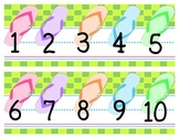 Flip flop number line chalkboard border
