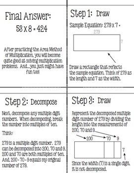 Flip for Math: Area Model Method for Multiplication Plus Jumbo Practice Cards