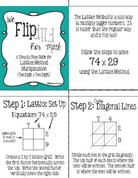 Flip for Math: Lattice Method Multiplication Plus Jumbo Practice Cards