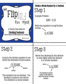 Flip for Math:  Step-By Step, 3-in-1, Flip Book for Dividing Decimals
