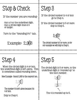 Flip for Math:  Step-By Step, 3-in-1, Flip Book for Rounding Numbers