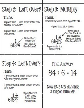 Flip for Math:  Step-By Step, 3-in-1, Flip Book for Short Division Method