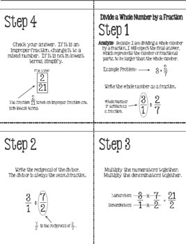 Flip for Math:  Step-By Step, 4-in-1, Flip Book for Dividing Fractions