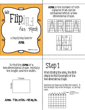 Flip for Math:  Step-By Step Area