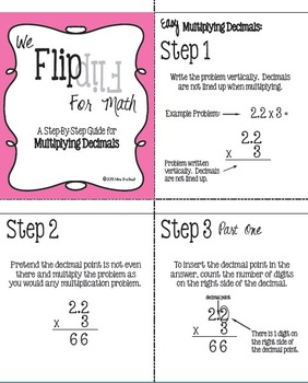 Flip for Math:  Step-By Step, Flip Book for Multiplying Decimals