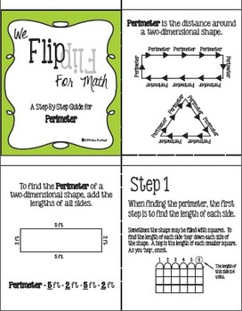 Flip for Math:  Step-By Step Perimeter
