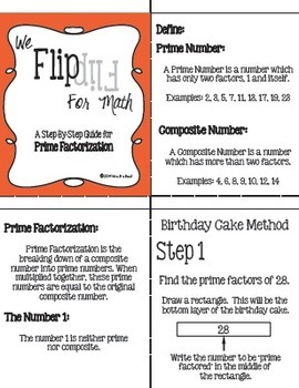 Flip for Math:  Step-By Step Prime Factorization