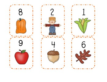 Flip for Ten (addition game) - Fall Theme
