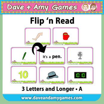 Flip n' Read: CVC phonics A (5 games)