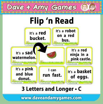 Flip 'n Read: CVC phonics C