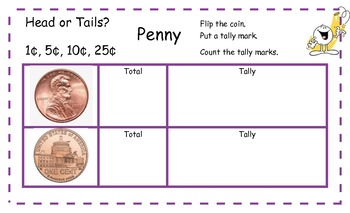 Flip the Coin- Heads or Tails Tally Counting