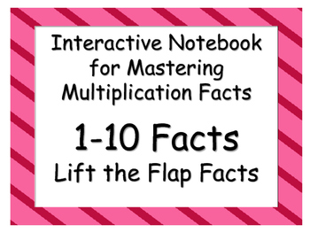 Flip the Fact Interactive Notebook Resource: Multiplication Facts 1-10