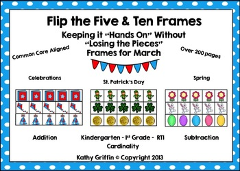 Flip the Five and Ten Frames January-April Bundle Set