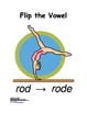 Flip the Vowel Strategy Poster and Label Sized Graphic Reminder (K-2, 6 pgs.)