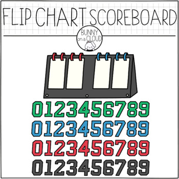 FlipChart ScoreBoard by Bunny On A Cloud