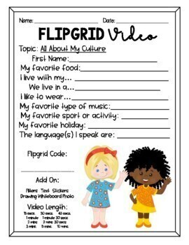 FlipGrid video Templates for Students (Rubric options)