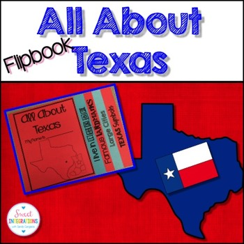 TEXAS FLIPBOOK With landmarks, cities, and symbols