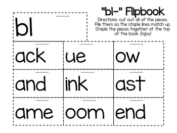 Flipbook Bundle Pack (Includes prefix &suffix, blends, & word family packs)