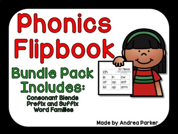 Flipbook Bundle Pack (Includes prefix &suffix, blends, & word family packs)