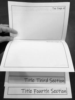 Flipbook Foldable Editable Template