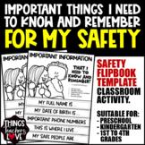 Flipbook, Important Info For Kids, DOB, Address, Phone Num