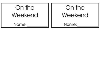 Flipbook - On the weekend, First, Next, then, Last