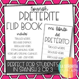 Spanish Preterite Notes Flip Book for Interactive Notebooks
