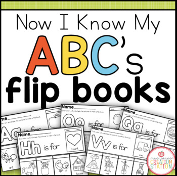 Alphabet Flipbook Printable {Now I Know My ABC's Series}
