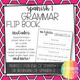 Spanish 1 Grammar Review Flip Book for Interactive Notebooks