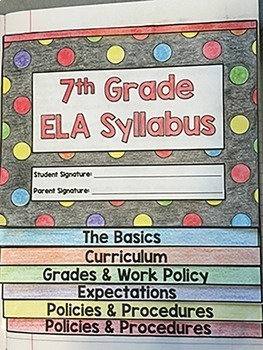 Editable Flipbook Syllabus Template