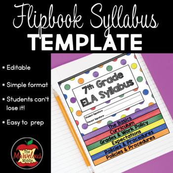 Editable Flipbook Syllabus Template