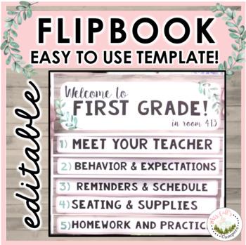 Flipbook Template | Editable | No Cutting