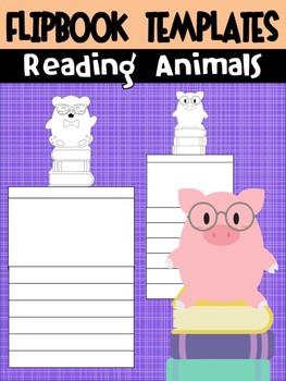 Editable Flipbook Templates : Book Animals - For Reading, Literacy, Writing