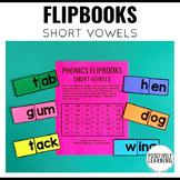 Flipbooks Phonics Short Vowels Free