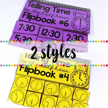 Flipbooks for Telling Time to the Half Hour