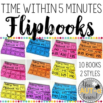 Flipbooks for Telling Time within 5 Minutes