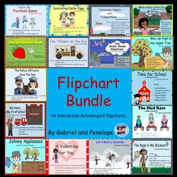 Interactive Books for Speech Therapy:  Flipchart Bundle