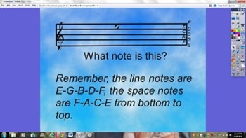 Flipchart- Identify a note as line or space student respon
