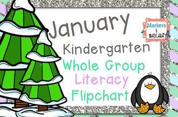 FREEBIE Flipchart- January Literacy Whole Group