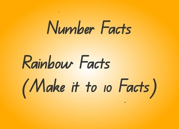 Flipchart - Make it to 10 number facts
