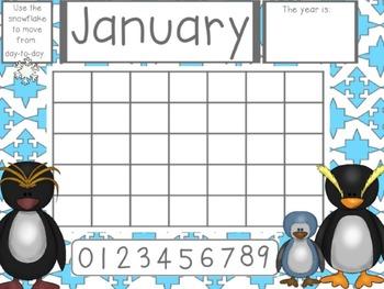 FREEBIE Flipchart Math Whole Group - January