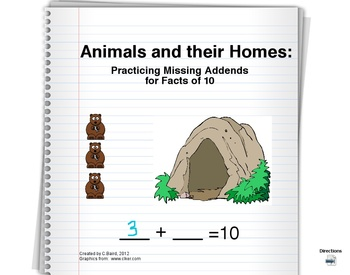 Flipchart: Missing Addends Facts of 10  {Sample Version}
