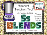Flipchart - Teaching Tool - Ss Blends (Review Pages Included)