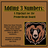 Flipchart for Adding 3 Numbers: Bear Theme