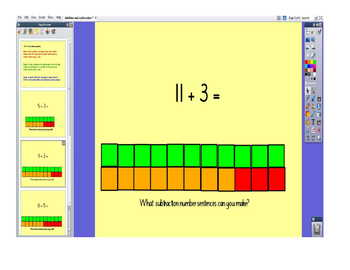 Flipchart for Teaching Related Addition and Subtraction Sentences