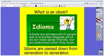 Flipchart for Theme of Adages, Proverbs, and Idioms Week Long Mini-lessons 4-6