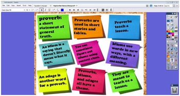 Flipchart for Theme of Adages, Proverbs, and Idioms Week L