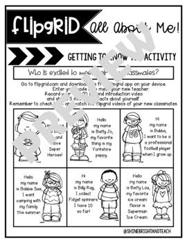 Flipgrid Back to School & Reading Response Activities
