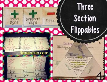 Interactive Notebook Flippable Template Pack (PDF and Editable)