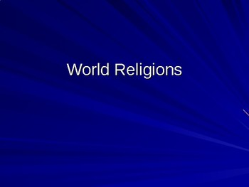 Flipped Classroom World Religions Powerpoint